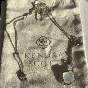 Kendra Scott Silver Kacey Necklace MOP✨